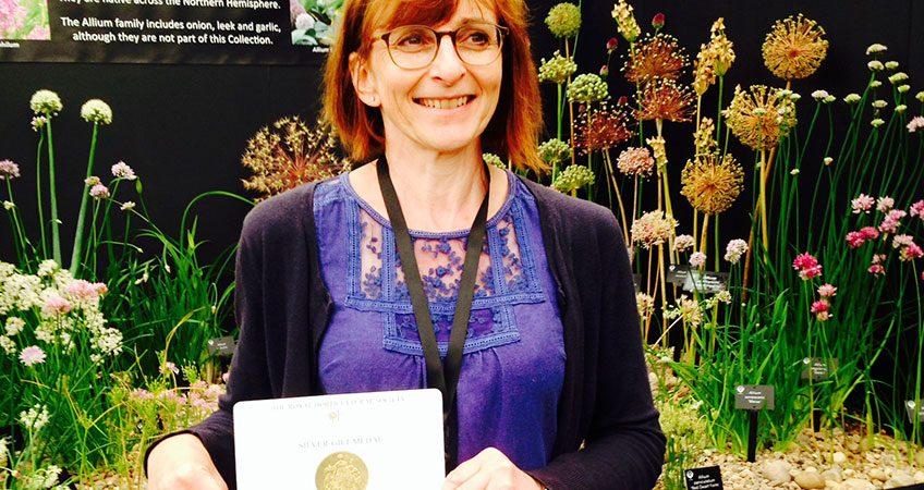 Jackie with Hampton Court Flower Show award